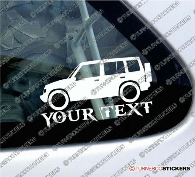 2x Suzuki Sidekick / Vitara 5-Door Hardtop (1989-1998) 4x4 Silhouette CUSTOM TEXT stickers